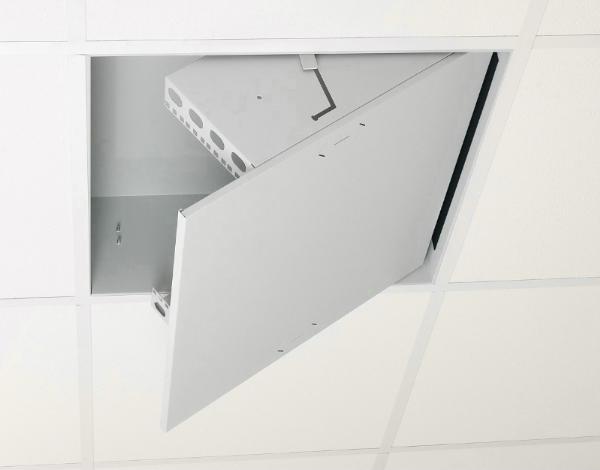 Coffret rack 19 et 10 informatique muraux armoire baie for Materiel faux plafond